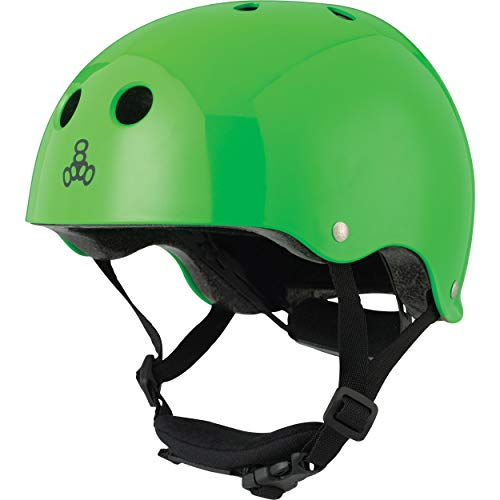 ヘルメット スケボー スケートボード 海外モデル 直輸入 3926 Triple Eight Lil 8 Dual-Certified Sweatsaver Kids' Helmet for Skateboarding and Biking, Neon Green Glossyヘルメット スケボー スケートボード 海外モデル 直輸入 3926