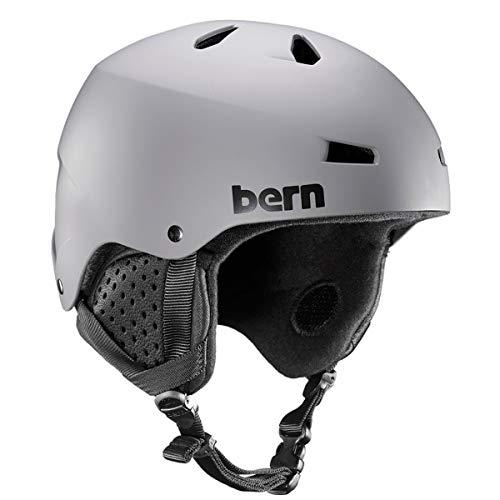 ヘルメット スケボー スケートボード 海外モデル 直輸入 SM02E17MGY3 BERN - Winter Macon EPS Snow Helmet, Matte Grey with Black Liner, Largeヘルメット スケボー スケートボード 海外モデル 直輸入 SM02E17MGY3
