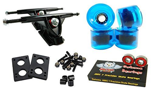 トラック スケボー スケートボード 海外モデル 直輸入 Longboard 180mm Trucks Combo w/70mm Wheels + Owlsome ABEC 7 Bearings (Gel Blue)トラック スケボー スケートボード 海外モデル 直輸入
