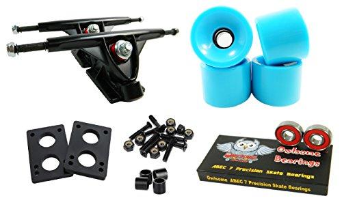 トラック スケボー スケートボード 海外モデル 直輸入 Longboard 180mm Trucks Combo w/70mm Wheels + Owlsome ABEC 7 Bearings (Solid Baby Blue)トラック スケボー スケートボード 海外モデル 直輸入