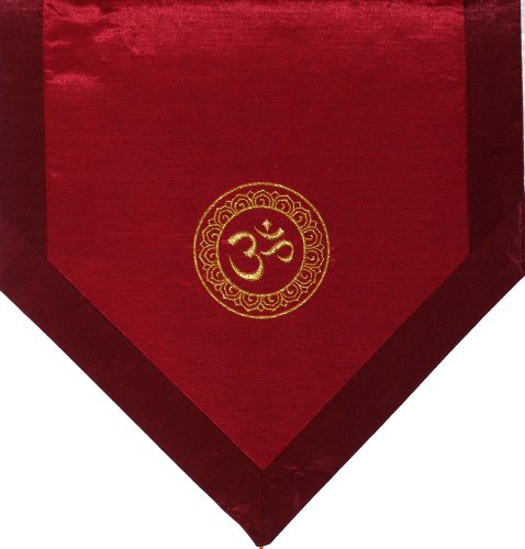 ヨガ フィットネス new 【送料無料】Boon Decor Altar Cloth Or Wall Hangings - Embroidered - Om in Lotus Wheel: Iridescent Redヨガ フィットネス new