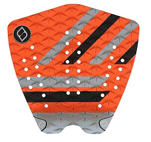 サーフィン デッキパッド マリンスポーツ 【送料無料】Shapers Tailpads Mod Series 3 Piece Traction Pad Black Grey (Orange 1)サーフィン デッキパッド マリンスポーツ