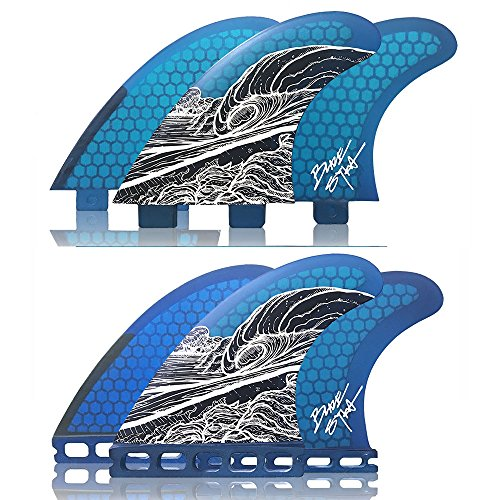 サーフィン フィン マリンスポーツ Naked Viking Surf Medium JL Thruster Surfboard Fins (Set of 3) Blaze Syka Art Fin, FCS Baseサーフィン フィン マリンスポーツ