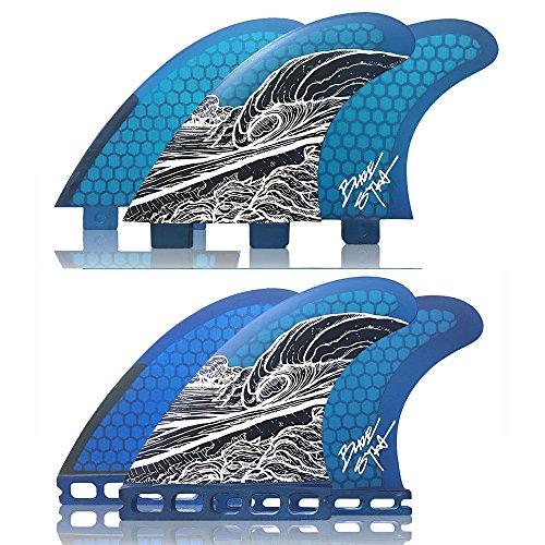 サーフィン フィン マリンスポーツ Naked Viking Surf Medium JL Thruster Surfboard Fins (Set of 3) Blaze Syka Art Fin, Futures Baseサーフィン フィン マリンスポーツ
