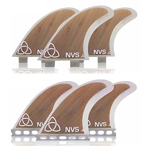 サーフィン フィン マリンスポーツ 【送料無料】Naked Viking Surf Medium JL Thruster Surfboard Fins (Set of 3) Bamboo, FCS Baseサーフィン フィン マリンスポーツ