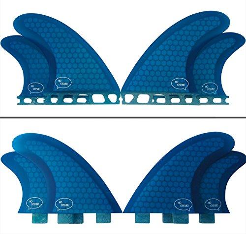 サーフィン フィン マリンスポーツ Quad Surfboard Fins (4 Fins) - Perfect Flex with Honeycomb (Blue, Future)サーフィン フィン マリンスポーツ