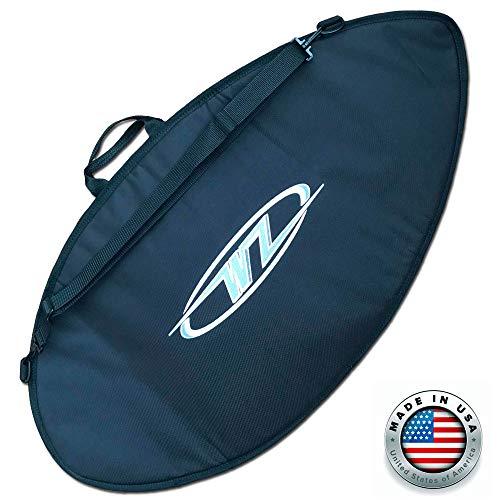 サーフィン ボードケース バックパック マリンスポーツ Wave Zone Skimboards Bag - Travel or Day Use - Padded (Black, Medium - 53