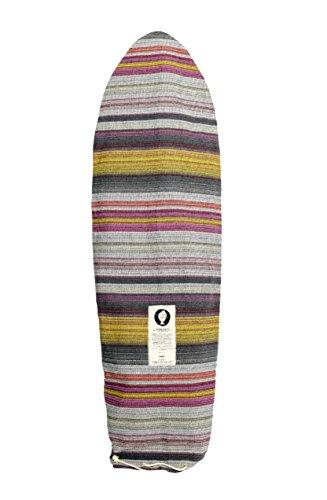 サーフィン ボードケース バックパック マリンスポーツ Open Road Goods Grey Surfboard Bag/Surfboard Sock Cover Travel Bag, Handmade! Awesome Surf Accessory! 8'0 (Good for Shortboards, Guns, Fish Boardsサーフィン ボードケース バックパック マリンスポーツ