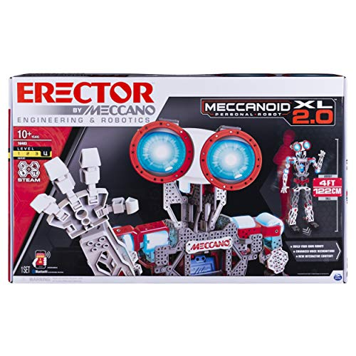 アンクルミルトン 知育玩具 科学 6028406 Erector by Meccano Meccanoid XL 2.0 Robot-Building Kit, STEM Education Toy for Ages 10 & Up (Amazon Exclusive)アンクルミルトン 知育玩具 科学 6028406