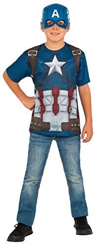 コスプレ衣装 コスチューム キャプテンアメリカ 620719_L Rubie's Costume Captain America: Civil War Child Top and Mask, Largeコスプレ衣装 コスチューム キャプテンアメリカ 620719_L
