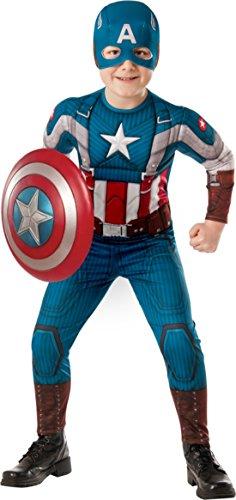 コスプレ衣装 コスチューム キャプテンアメリカ RU620046LG Boys Captain America Kids Child Fancy Dress Party Halloween Costume, L (12-14)コスプレ衣装 コスチューム キャプテンアメリカ RU620046LG