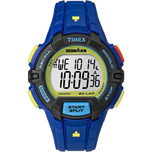 腕時計 タイメックス メンズ TW5M02400 【送料無料】Timex Men's TW5M02400 Ironman Rugged 30 Blue Color Block Resin Strap Watch腕時計 タイメックス メンズ TW5M02400