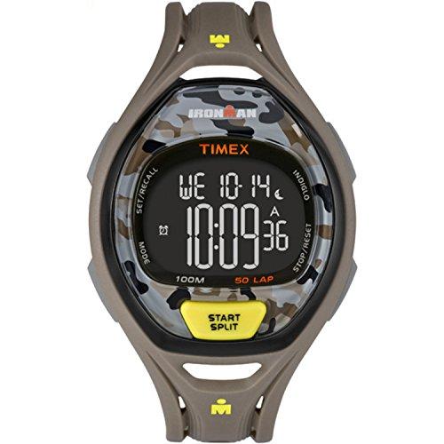 タイメックス 腕時計 メンズ TW5M01300 【送料無料】Timex Unisex TW5M01300 Ironman Sleek 50 Gray/Yellow Camo Resin Strap Watchタイメックス 腕時計 メンズ TW5M01300
