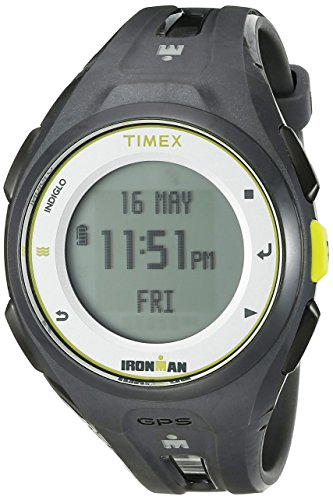 タイメックス 腕時計 メンズ TW5K87300F5 【送料無料】Timex Unisex TW5K87300 Ironman Run x20 GPS Full-Size Charcoal Resin Strap Watchタイメックス 腕時計 メンズ TW5K87300F5