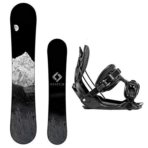 スノーボード ウィンタースポーツ システム 2017年モデル2018年モデル多数 【送料無料】Camp Seven System MTN Snowboard and Flow Alpha MTN Men's Snowboard Package (144 cm, Large Biスノーボード ウィンタースポーツ システム 2017年モデル2018年モデル多数