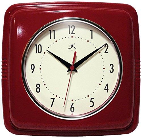 壁掛け時計 インテリア インテリア 海外モデル アメリカ 13228RD-4103 【送料無料】Infinity Instruments 13228RD-4103 Square Clock, Red壁掛け時計 インテリア インテリア 海外モデル アメリカ 13228RD-4103
