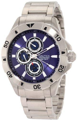 ノーティカ 腕時計 メンズ N17546G 【送料無料】Nautica Men's N17546G NST 06 Multifunction Blue Dial Steel Bracelet Watchノーティカ 腕時計 メンズ N17546G