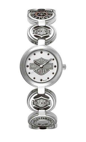 腕時計 ブローバ レディース 76L145 【送料無料】Harley-Davidson Women's Bulova Charm Bracelet Wrist Watch 76L145腕時計 ブローバ レディース 76L145