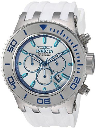インヴィクタ インビクタ 腕時計 メンズ 24657 Invicta Men's Stainless Steel Quartz Watch with Silicone Strap, White, 31 (Model: 24657)インヴィクタ インビクタ 腕時計 メンズ 24657