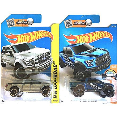 ホットウィール マテル ミニカー ホットウイール Hot Wheels Ford F-150 F150 Pickup Truck and SVT Raptor in 銀 and 青 SET OF 2ホットウィール マテル ミニカー ホットウイール