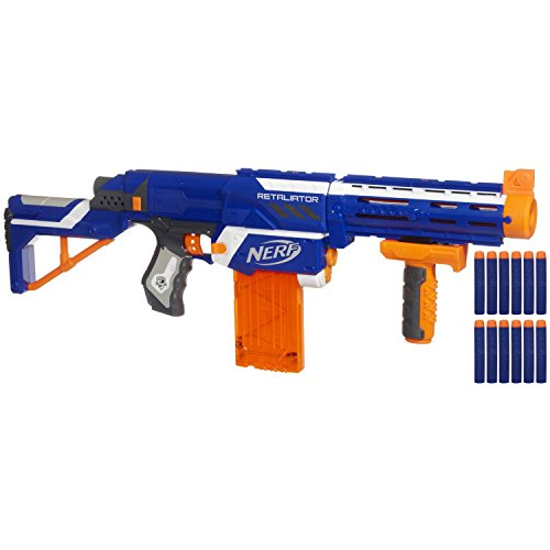 ナーフ エヌストライク アメリカ 直輸入 エリート Nerf N-strike Elite Retaliator (Colors May Vary) - 4 Blasters in 1 - 3 Interchangeable Parts - Fires up to 90 Feet - Trademarks Hasbro - Played By Young & Oナーフ エヌストライク アメリカ 直輸入 エリート