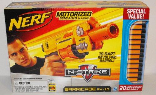 ナーフ エヌストライク アメリカ 直輸入 エリート NERF Motorized Semi-Auto Blaster Nerf N-Strike Barricade RV-10 Motorized Semi-Auto Blaster with 30 Whistle Dartsナーフ エヌストライク アメリカ 直輸入 エリート NERF Motorized Semi-Auto Blaster