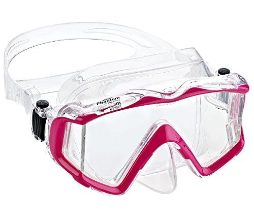 シュノーケリング マリンスポーツ PAQ3WM-CLPK 【送料無料】Phantom Aquatics Panoramic Scuba Snorkeling Dive Mask, Pinkシュノーケリング マリンスポーツ PAQ3WM-CLPK