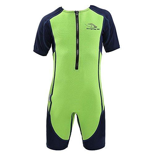 シュノーケリング マリンスポーツ SJ21331042Y Aqua Sphere Stingray Short Sleeve Wet Suit, Green/Blue, Size 02シュノーケリング マリンスポーツ SJ21331042Y