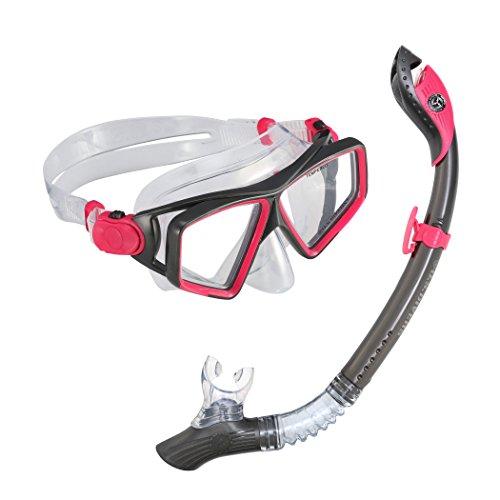シュノーケリング マリンスポーツ 281037 U.S. Divers 281037 Lanaii Jr Mask Paradise Snorkel Combo, Grey Pinkシュノーケリング マリンスポーツ 281037