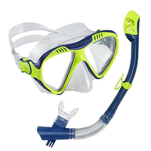 シュノーケリング マリンスポーツ 281021 【送料無料】U.S. Divers Magellan Mask Tucson Go Pro Snorkel Combo, Yellow/Blueシュノーケリング マリンスポーツ 281021