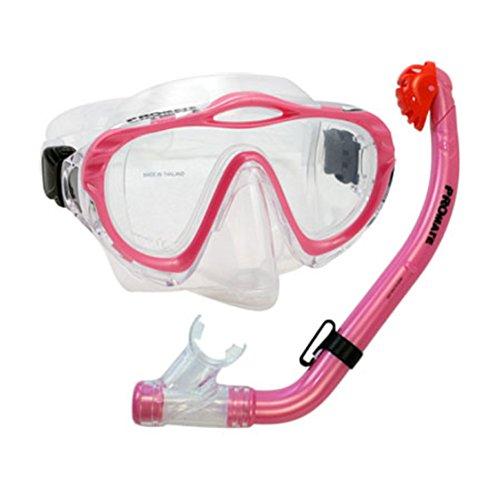 シュノーケリング マリンスポーツ 【送料無料】Junior Snorkel Set Purge Mask Dry Snorkel Set for Kids, Pinkシュノーケリング マリンスポーツ