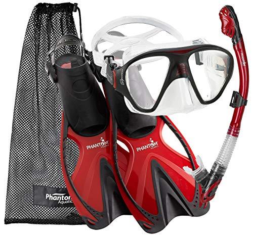 シュノーケリング マリンスポーツ PAQSMFS RED-LG Phantom Aquatics Adult Speed Sport Mask Fin Snorkel Set, Red, Largeシュノーケリング マリンスポーツ PAQSMFS RED-LG