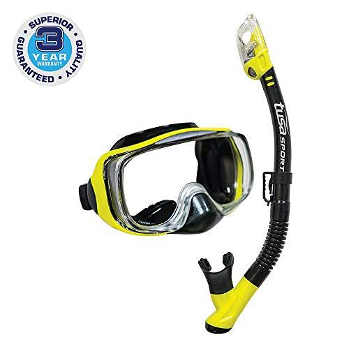シュノーケリング マリンスポーツ UC-3325-BKFY TUSA Sport Adult Imprex 3D Purge Mask and Dry Snorkel Combo, Black/Yellowシュノーケリング マリンスポーツ UC-3325-BKFY