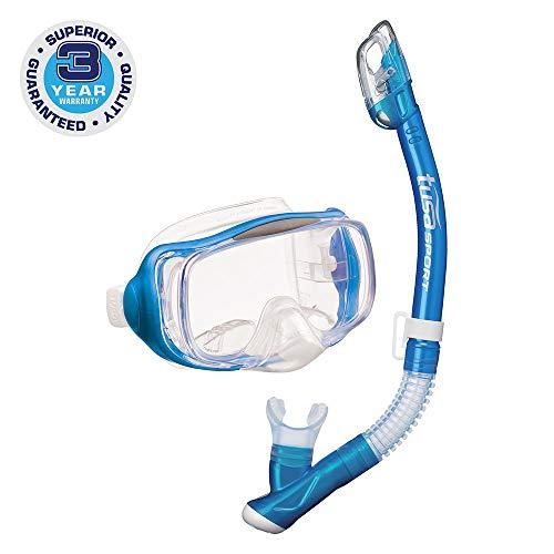 シュノーケリング マリンスポーツ UC-3325-FB TUSA Sport Imprex 3D Dry Mask and Snorkel Combo, Fishtail Clear Blueシュノーケリング マリンスポーツ UC-3325-FB