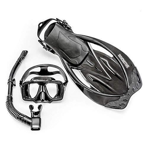 シュノーケリング マリンスポーツ MSF4612 【送料無料】Innovative Scuba Concepts MSF4612 REEF, Adult Snorkel Set, Mask, Fins, Snorkel and Bagシュノーケリング マリンスポーツ MSF4612