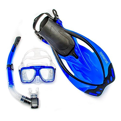 シュノーケリング マリンスポーツ MSF4662 Innovative Scuba Concepts MSF4662 REEF, Adult Snorkel Set, Mask, Fins, Snorkel and Bagシュノーケリング マリンスポーツ MSF4662