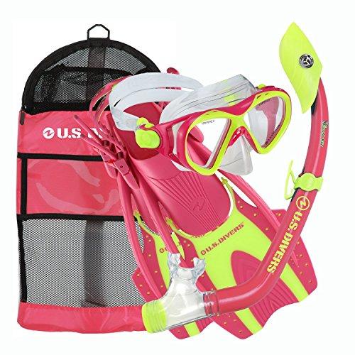 シュノーケリング マリンスポーツ 261242 U.S. Divers Youth Buzz Junior Snorkeling Set, Neon Pink, Small (1-3)シュノーケリング マリンスポーツ 261242