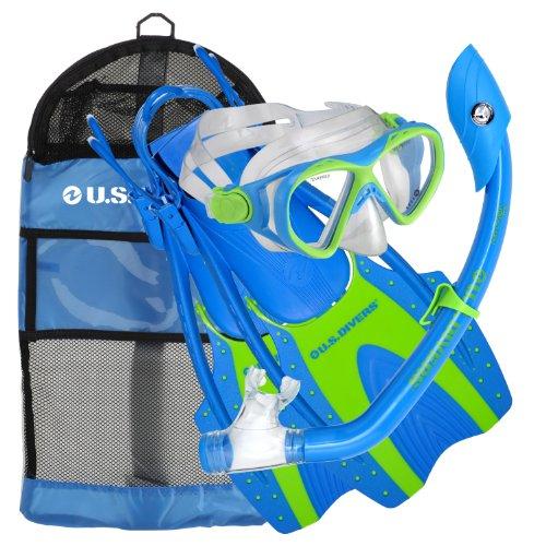 シュノーケリング マリンスポーツ 241705 U.S. Divers Youth Buzz Jr. Snorkeling Set Purple Small/Mediumシュノーケリング マリンスポーツ 241705