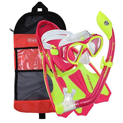 シュノーケリング マリンスポーツ 281103 U.S. Divers Youth Buzz Junior Snorkeling Set, Neon Pink, M (1-4)シュノーケリング マリンスポーツ 281103