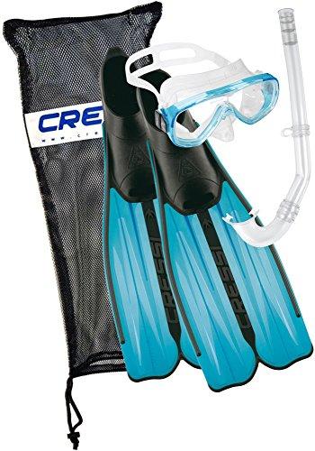 シュノーケリング マリンスポーツ CA189241 Cressi Rondinella Snorkel, Mask & Fin Set - Aquamarineシュノーケリング マリンスポーツ CA189241