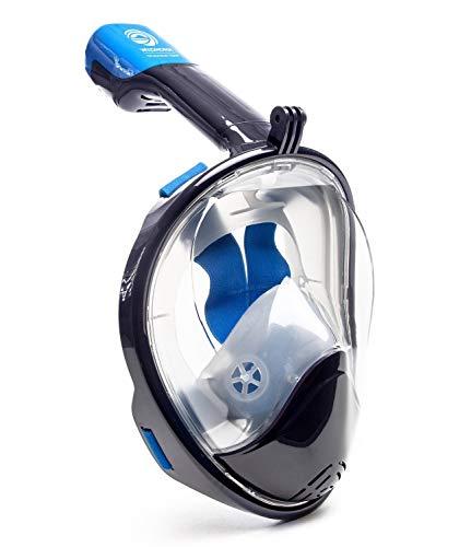 シュノーケリング マリンスポーツ Seaview 180° GoPro Compatible Snorkel Mask- Panoramic Full Face Design. See More With Larger Viewing Area Than Traditional Masks. Prevents Gag Reflex with Tubeless Design (Navy, XS)シュノーケリング マリンスポーツ