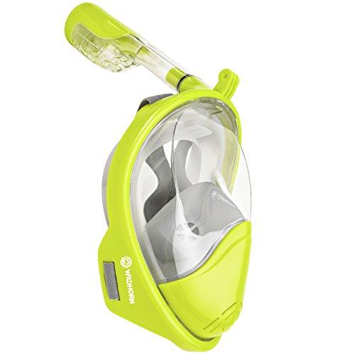 シュノーケリング マリンスポーツ Seaview 180° GoPro Compatible Snorkel Mask- Panoramic Full Face Design. See More With Larger Viewing Area Than Traditional Masks. Prevents Gag Reflex with Tubeless Design (Electric, L/Xシュノーケリング マリンスポーツ