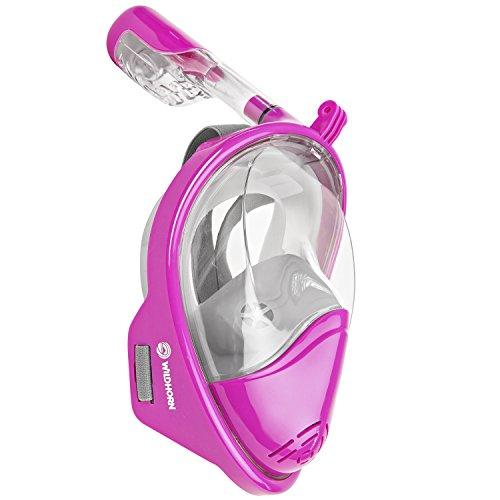 シュノーケリング マリンスポーツ Seaview 180° GoPro Compatible Snorkel Mask- Panoramic Full Face Design. See More With Larger Viewing Area Than Traditional Masks. Prevents Gag Reflex with Tubeless Design (Lotus, S/M)シュノーケリング マリンスポーツ