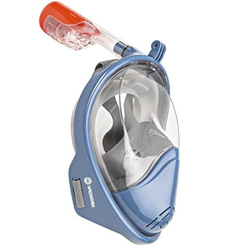 シュノーケリング マリンスポーツ Seaview 180° GoPro Compatible Snorkel Mask- Panoramic Full Face Design. See More With Larger Viewing Area Than Traditional Masks. Prevents Gag Reflex with Tubeless Design (Manta Ray, L/シュノーケリング マリンスポーツ