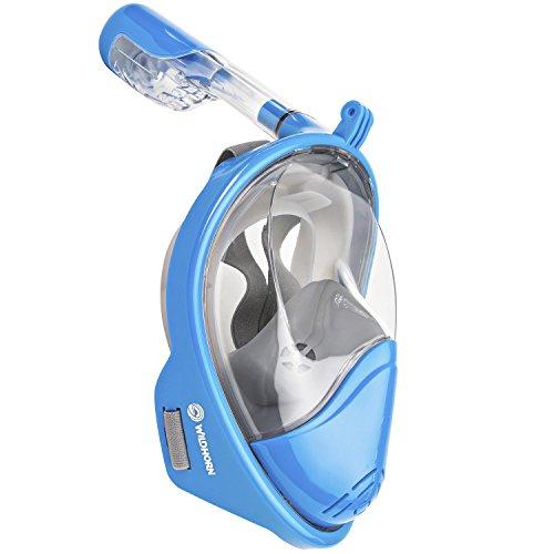 シュノーケリング マリンスポーツ Seaview 180° GoPro Compatible Snorkel Mask- Panoramic Full Face Design. See More With Larger Viewing Area Than Traditional Masks. Prevents Gag Reflex with Tubeless Design (Sky, S/M)シュノーケリング マリンスポーツ