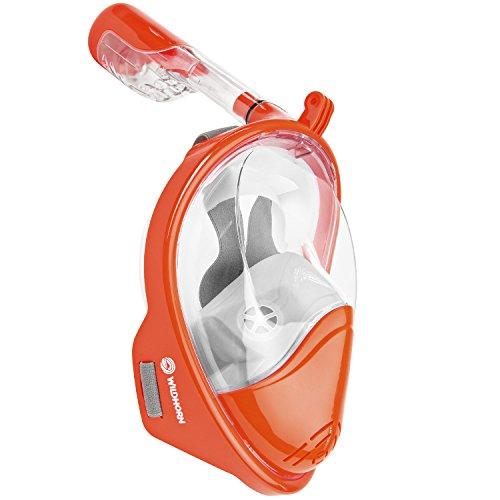 シュノーケリング マリンスポーツ Seaview 180° GoPro Compatible Snorkel Mask- Panoramic Full Face Design. See More With Larger Viewing Area Than Traditional Masks. Prevents Gag Reflex with Tubeless Design (Sunet, L/XL)シュノーケリング マリンスポーツ