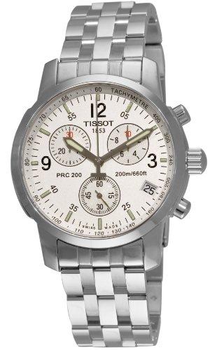ティソ 腕時計 メンズ T17158632 【送料無料】Tissot Men's T17158632 T-Sport PRC200 Chronograph Stainless Steel Silver Dial Watchティソ 腕時計 メンズ T17158632