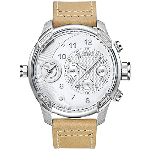 高級腕時計 メンズ J6325D JBW Luxury Men's G3 .16 Carat Diamond Wrist Watch with Leather Bracelet高級腕時計 メンズ J6325D