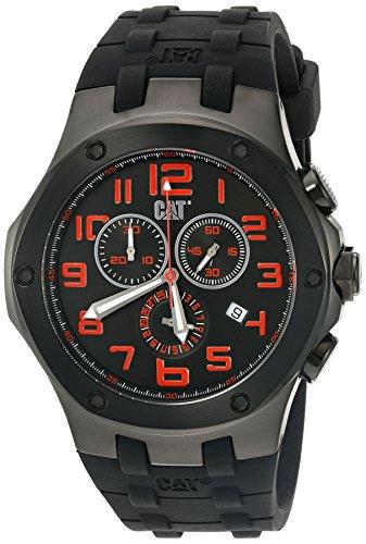 キャタピラー タフネス 腕時計 メンズ 頑丈 A716321118 CAT WATCHES Men's 'Navigo Chrono' Quartz Stainless Steel and Silicone Watch, Color:Black (Model: A716321118)キャタピラー タフネス 腕時計 メンズ 頑丈 A716321118