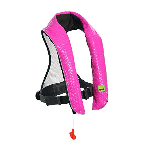 フロート プール 水遊び 浮き輪 Eyson Inflatable Life Jacket Inflatable Life Vest Deluxe Leather PFD Manual (Pink)フロート プール 水遊び 浮き輪